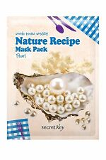 Korean Cosmetics Secret Key Pearl+Aloe 4 Nature Recipe Sheet Masks/US Seller
