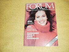 rare oop FORUM Vol 6 No 7 Jul 1978 Australian Journal Of Interpersonal Relations