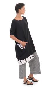 Alembika Black & White Lagenlook Big PocketTunic. Compare @ $176.