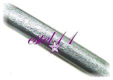 60 cm. Cordon cuero regaliz gris metalizado 10x7mm autentica piel pulseras