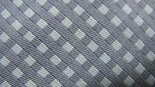 BREUER WHITE GRAY BASKETEWEAVE PATTERN SILK NECKTIE TIE MMY1717B #A19