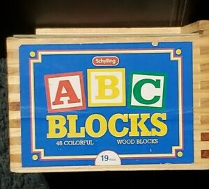 47 out of 48 Wooden ABC Blocks In Box by Schylling