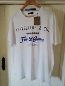 MASSIMO DUTTI Men's Graphic T Shirt White Size 44/XXL
