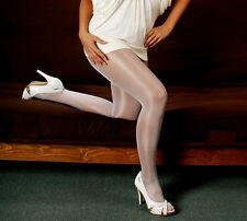 D L Peavey Nurse White Shiny Tights Hooters Uniform Lingerie holiday NYE party w