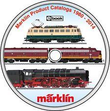 Marklin Modern Train Catalogs DVD 1980-2014 Collection Slot Cars & Digital