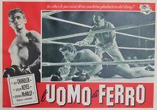 """""""IRON MAN (L'UOMO DI FERRO)"""" Affiche italie entoilée Joseph PEVNEY,Jeff CHANDLER"""