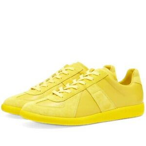 maison margiela replica luxury trainer in canary yellow. size 12 US
