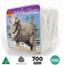 WINTER WEIGHT-All Size 700GSM AUS MADE100% Wool Quilt Doona Duvet Blanket