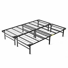 intelliBASE Lightweight Easy Set Up Bi-Fold Platform Metal Bed Frame, King
