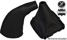BLACK STITCH LEATHER GEAR & HANDBRAKE GAITER FITS MAZDA MX5 MIATA EUNOS MK1