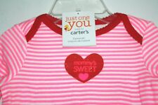Carter's Christmas Outfit Girls size 9 months Pink & Red Mommy's Sweetheart -IIX