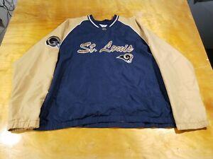Men's St. Louis Rams LA Rams NFL Team Apparel Pull Over Jacket - XL