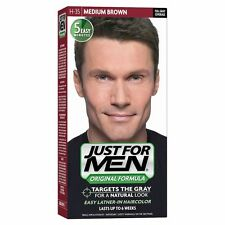 Just For Men Hair Colour Mens Shampoo In Dyeing Colouring MEDIUM BROWN H35 Dye