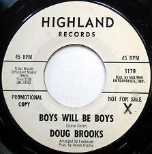 Doug Brooks 45 Boys Will Be Boys / What Do You Do Promo Pop Novelty 1967 e340