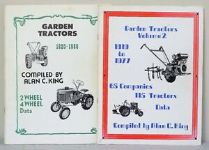 2 Garden Tractors softcover books- 1920-1956 & 1919 - 1977 - Alan C. King