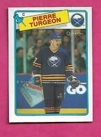 1988-89 OPC # 194 SABRES PIERRE TURGEON ROOKIE NRMT-MT CARD (INV# C1835)