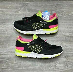 NEW ASICS GEL-LYTE V 5 Black Volt Pink White Running Walking Shoes US Size 7 DS