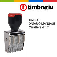 TIMBRO DATARIO MANUALE  CARATTERE 4 MM