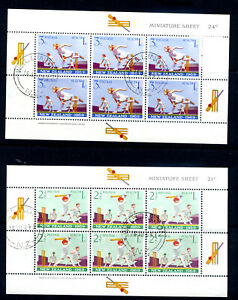 New Zealand 1969 Health Miniature Sheets V.Fine Used Hi.Cat Val.