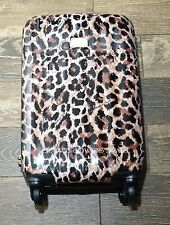 Victoria's Secret Hard Shell Leopard Print Rolling Suitcase