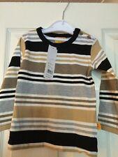 Boys Simple Long Sleeve Stripe Top By Steiff Age 12 Months BNWTA