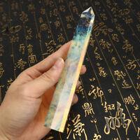 200mm Naturel Cristal Quartz Baguette Pointe Pierre Minéral Reiki Wand Guérison