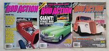 Street Rod Action Magazine - Lot of 3 - 1989 thru 1993 - Hot Rods & Customs