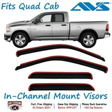 194101 AVS In-Channel Vent Visor Rain Guards for Dodge Ram Quad Cab 2009-2018
