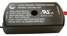 LOW VOLTAGE ELECTRONIC HALOGEN TRANSFORMER 120VAC TO12VAC 100W LIGHT DIMMABLE