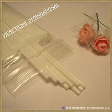 """50pcs 6"""" x 5/32"""" Plastic lollipop sticks for cake pops lollipop candy - White"""