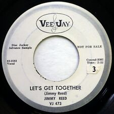 JIMMY REED 45 Let's Get Together/Oh, John VEE-JAY blues VG+ promo ws1185
