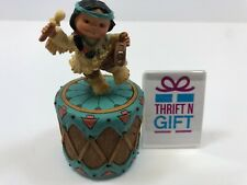 Enesco Corporation Friends of Feather Figurine 1995 Rhythm Covered Box with Drum