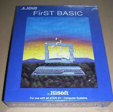 NEW Atari 520 1040 ST STFM STE Mega Computer HiSoft First Basic Software BOXED