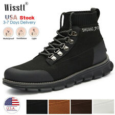 Mens Waterproof Boots Outdoors Lace up Casual Ankle Athletic Hiking Shoes 6-12.5