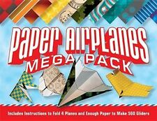 Paper Airplanes Mega Pack 'Instructions to Fold 4 Planes and Enough Paper to Mak