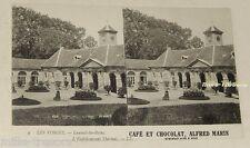 Carte CP stéréo : Les VOSGES LUXEUIL-les-BAINS - Café et Chocolat Alfred MARIE