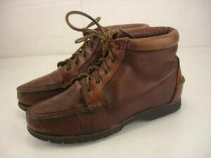 Womens 9 M Timberland Classic Brown Leather Waterproof Ankle Boot Lace-Up Iconic