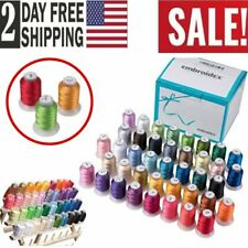 40 Spools Polyester Embroidery Machine Thread 550 YDS/ea Similar2 Brother Colors