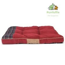 LARGE Scruffs Highland Red Tartan Comfy Pet Dog Mattress Bed 100 x 70cm Non-Slip