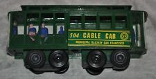 Vintage POWELL & MASON STS. CABLE CAR 504, MUNICIPAL RAILWAY SAN FRANSICO.
