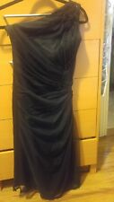 GIANNI VERSACE COUTURE Womens Black Sleeveless One-Shoulder Embellished Dress