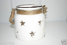 Heaven Sends Rustic Cream Ceramic Star Lantern