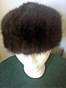 Ladies Vintage Mink Fur Hat