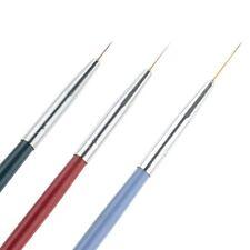 ❤️NOUVEAU KIT 3 PINCEAUX OUTILS PROFESSIONNEL DESSIN NAIL ART MANUCURE GEL UV