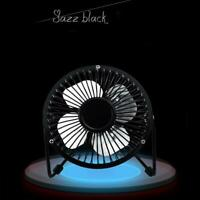 USB Fan Metal Mini Portable Quiet Desk Desktop Silent Laptop Cooler T1Y5