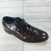 Vintage FLORSHEIM 30880 Mens Shoes Brown Leather Longwings 9.5 D