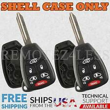 2 Replacement Cases for Chrysler Jeep Dodge Keyless Entry Remote Car Key 6btn