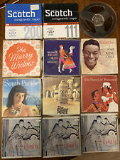 12 x Vintage Reel to Reel Tapes, Nat King Cole, South Pacific, Sound of Music