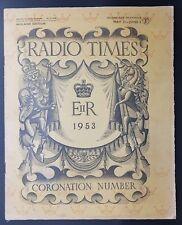 Radio Times Coronation Number Radio / TV Listings May 31-June 6 1953, Midland