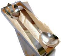 Mid Century Three Crown Silversmiths INGRID Silver Plate Salad Serving Set w Box